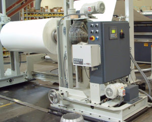 The roll stand can be outfitted with automatic tension control and low roll diameter detection to minimize Operator adjustment while the roll is unwinding.