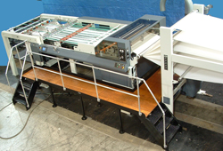 The MAXSON MSP Sheeter is the premier stationary dead knife sheeter for converters, preinters and specialty applications